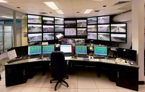 UAV Drone Surveillance Control Room